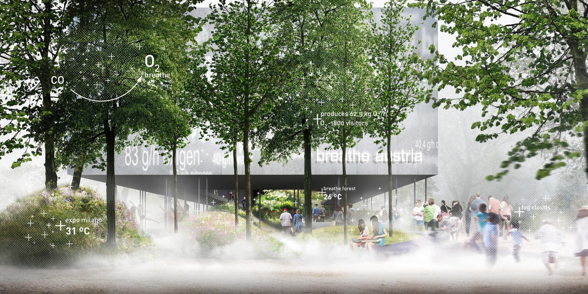 Expo Milán 2015: Pabellón austriaco simulará clima nativo y suficiente oxígeno para 18.000 personas, Vista exterior. Imagen © team.breathe.austria