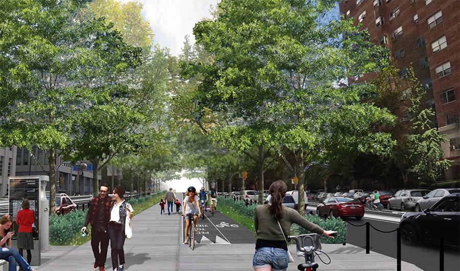 Ideias cidadãs para melhorar a segurança em torno da Ponte do Brooklyn, Courtesy of DOTNYC