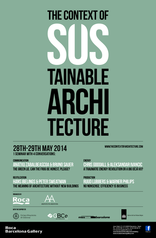 Seminario 'The Context of Sustainable Architecture' / Barcelona, España