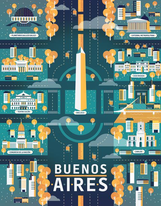 Arte e Arquitetura: a ilustração de cinco cidades e seus atrativos por Aldo Cusher, © Aldo Crusher