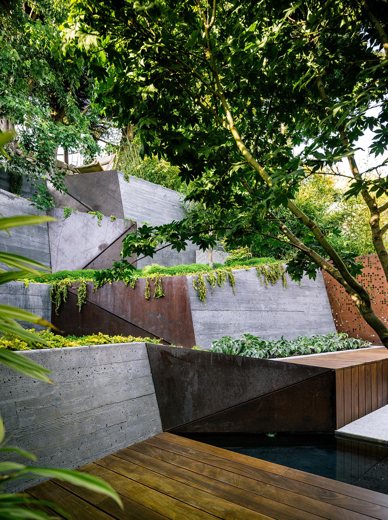 Galer a de arquitectura y paisaje hilgard garden una - Jardin en terraza pequena ...
