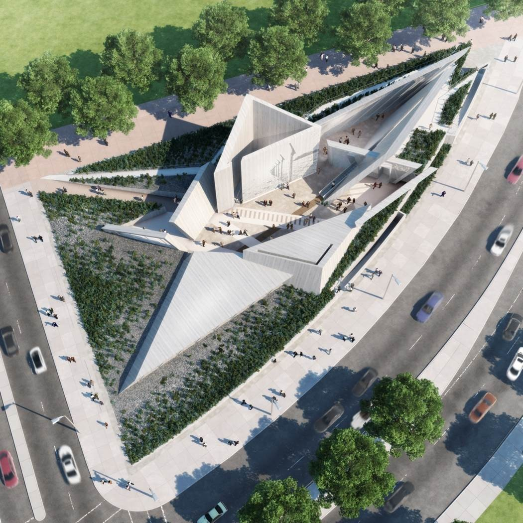 "Libeskind é selecionado para projetar o Monumento Nacional Canadense do Holocausto, Proposta vencedora do ""Team Lord"". Imagem © Government of Canada"