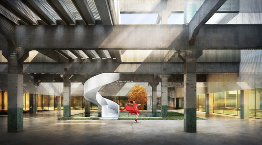 Interior of the proposed renovation. Image © Tianhua