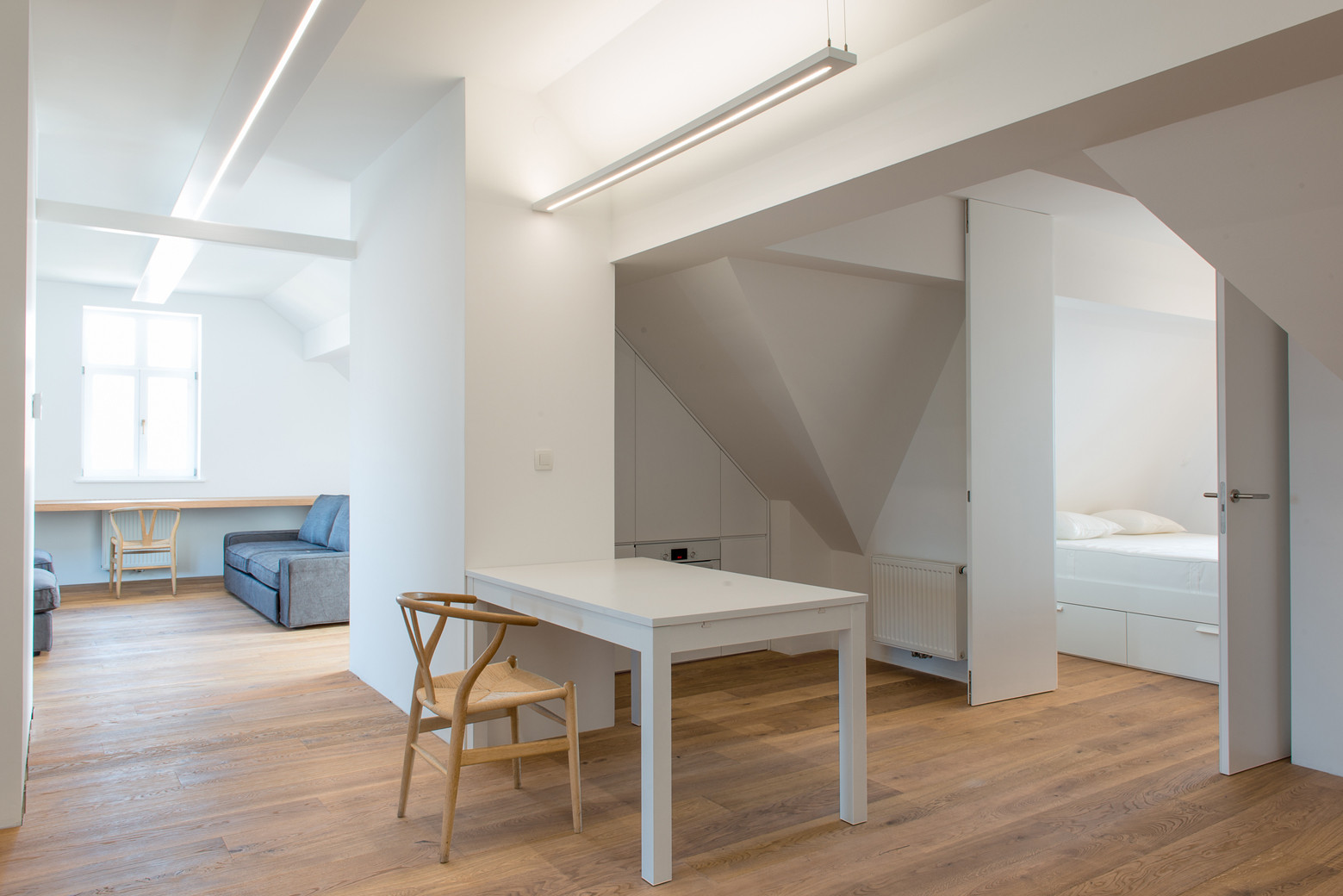 Attic Apartment Bled / Arhitektura d.o.o., © Jure Goršič