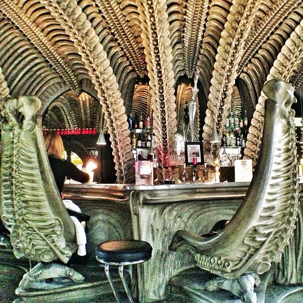 "HR Giger, Swiss Architect & Visual Mind Behind ""Alien,"" Dies, MUSEUM HR GIGER BAR in Château St. Germain, Gruyères, Switzerland. Image © Richard McMullen / flickr user johnleespider"
