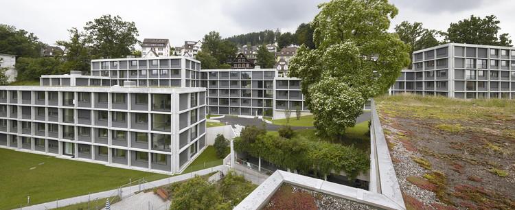 Moradia Estudantil em Luzern  / Durisch + Nolli Architetti, © Walter Mair