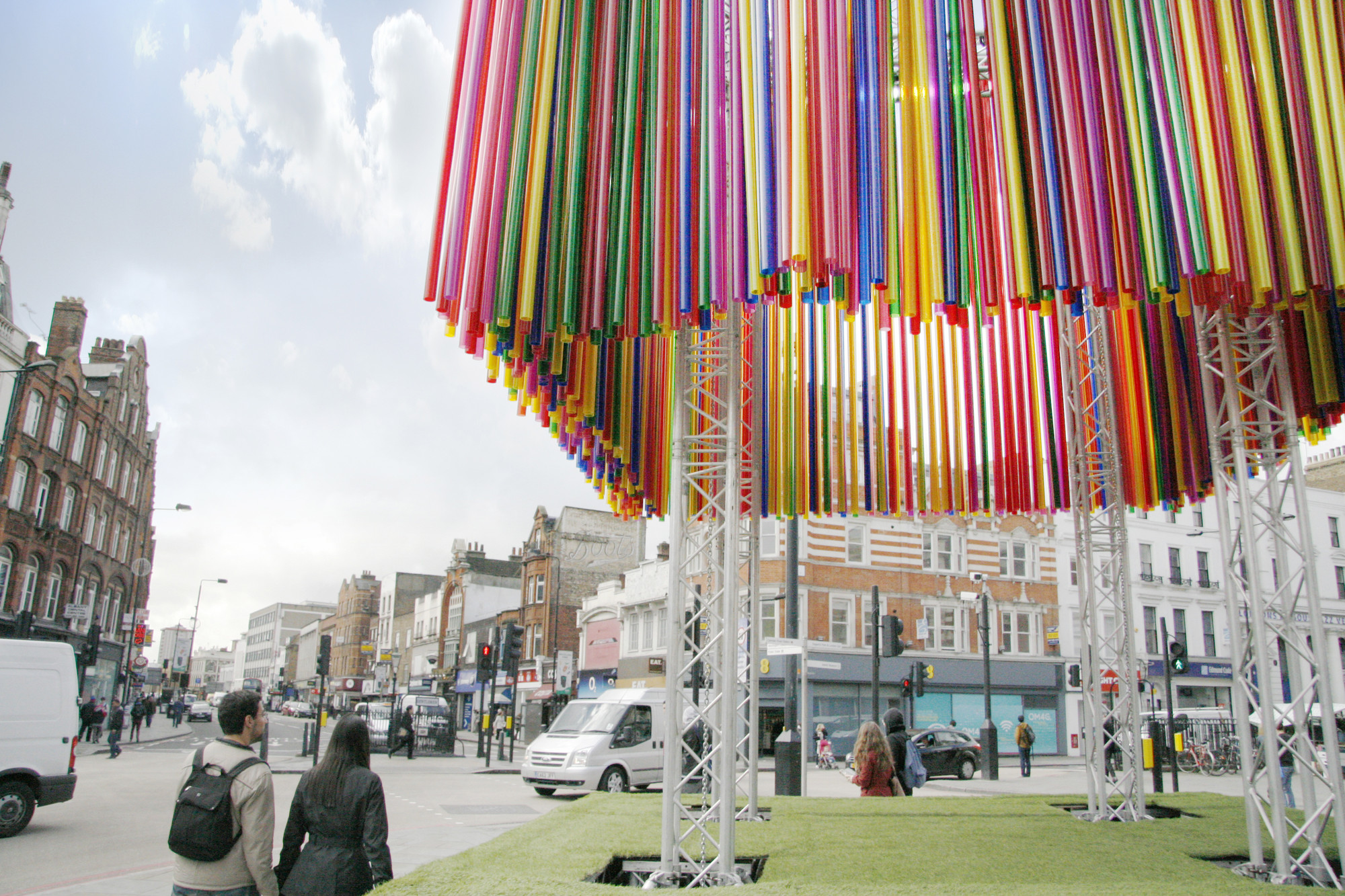 Colorful Pop-Up Pavilion Forms the Centerpiece for Camden Create Festival, © KSR Architects