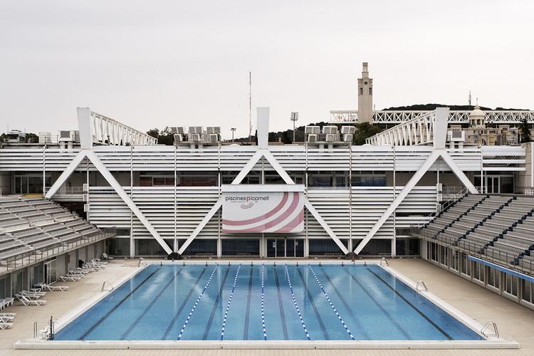 O legado arquitetônico dos Jogos Olímpicos de Barcelona de 1992, Piscina Bernat Picornell (1972), 2014. Image © Pol Masip