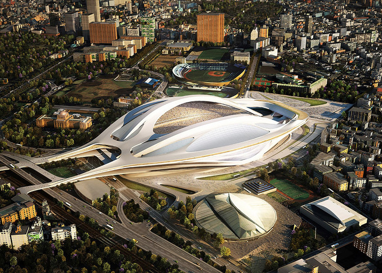 Toyo Ito and Fumihiko Maki Petition Against Zaha Hadid's Tokyo Olympic Stadium, © ZHA
