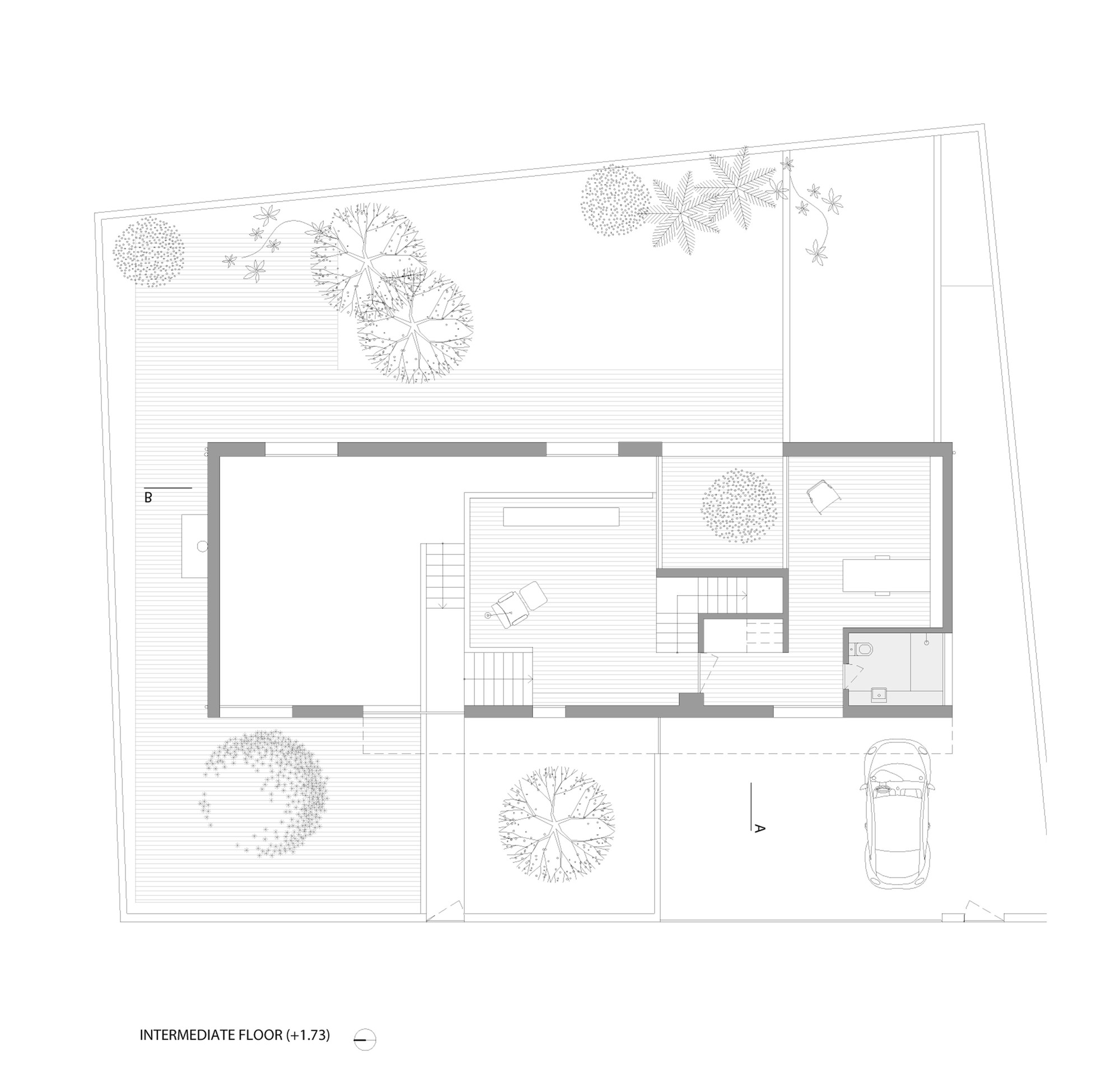 Patio House,Floor Plan