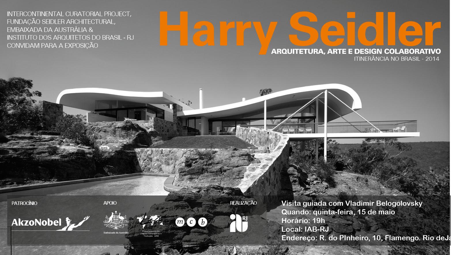 Exposição sobre Harry Seidler promove visita guiada, hoje na sede do IAB-RJ, Courtesy of IAB - RJ