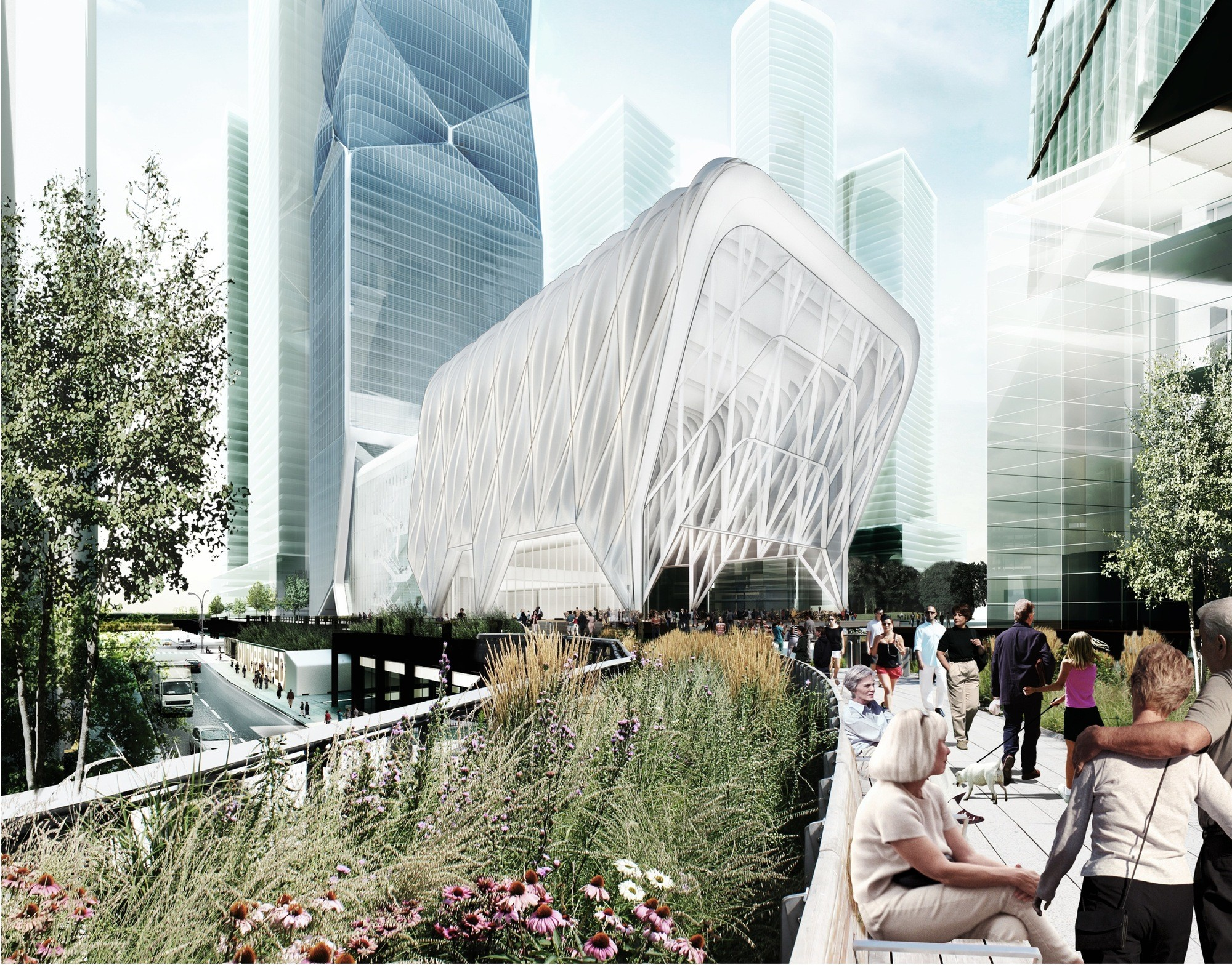 "The Hudson Yards - New Development, ""Smart"" Development , Diller Scofidio + Renfro's ""Culture Shed"" is awaiting approval, but other projects are already underway in the 28 Acre Hudson Yards development. Image © Diller Scofidio + Renfro and Rockwell Group"