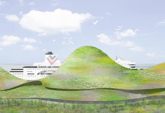 First Prize: Junya Ishigami + Associates (Japan). Image Courtesy of Kinmen Harbor Bureau