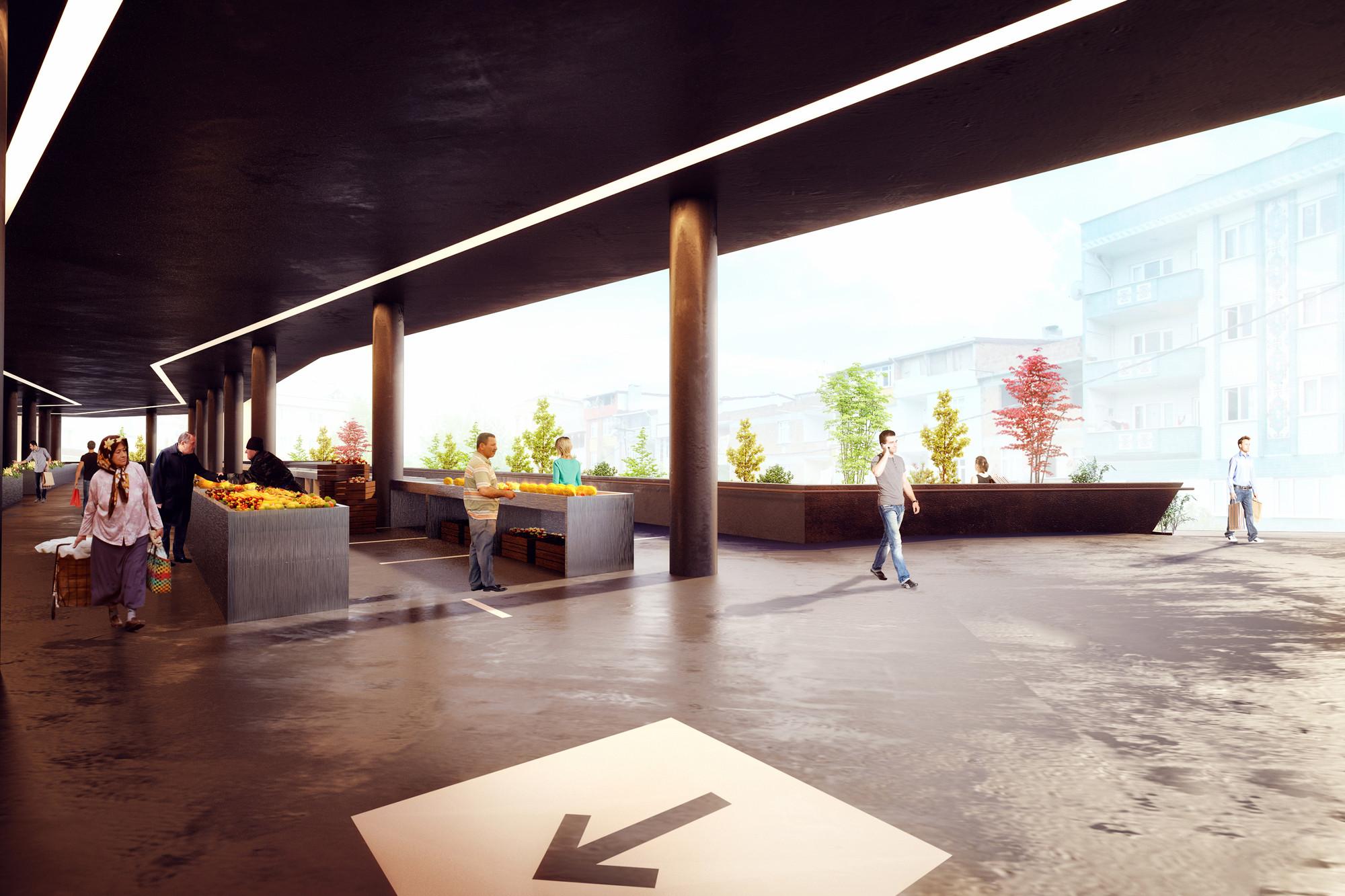 Suyabatmaz Demirel Proposes Terraced Market Hall for Sultangazi