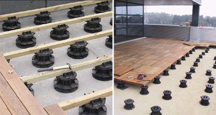Materiales pisos elevados plataforma arquitectura for Pisos de terrazas