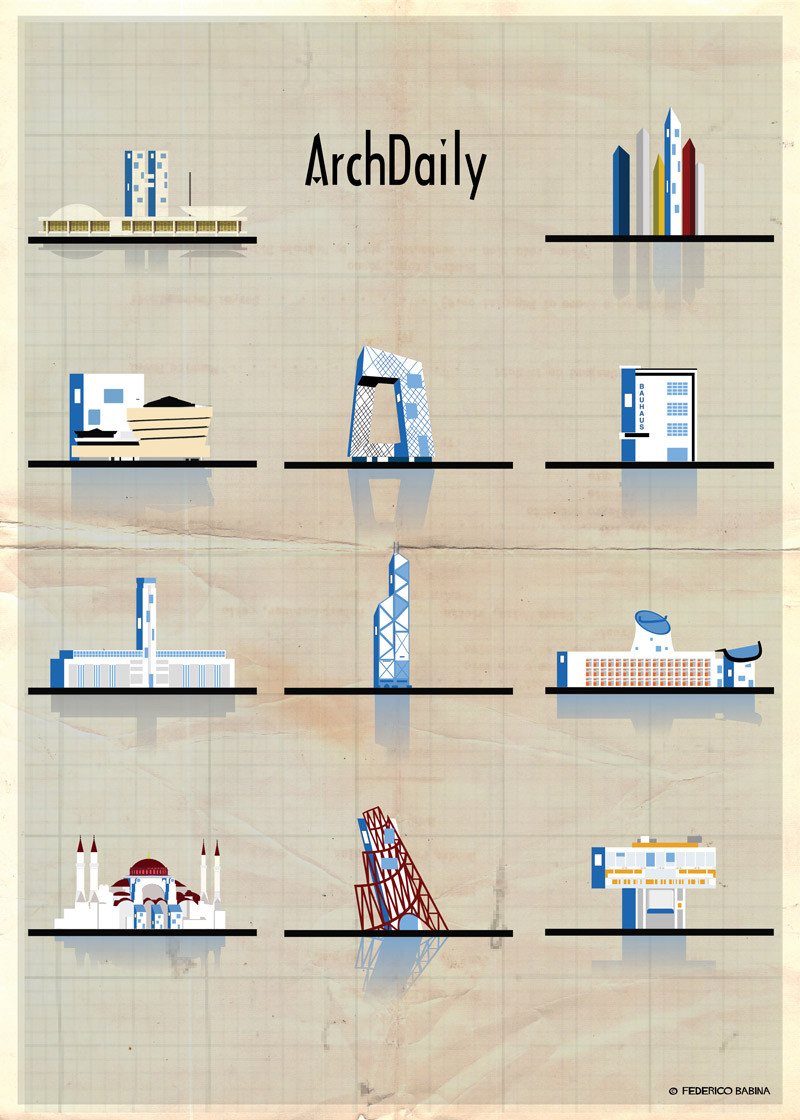 Federico Babina's Latest Archi-Illustrations: Classic National Architecture (With A Twist)