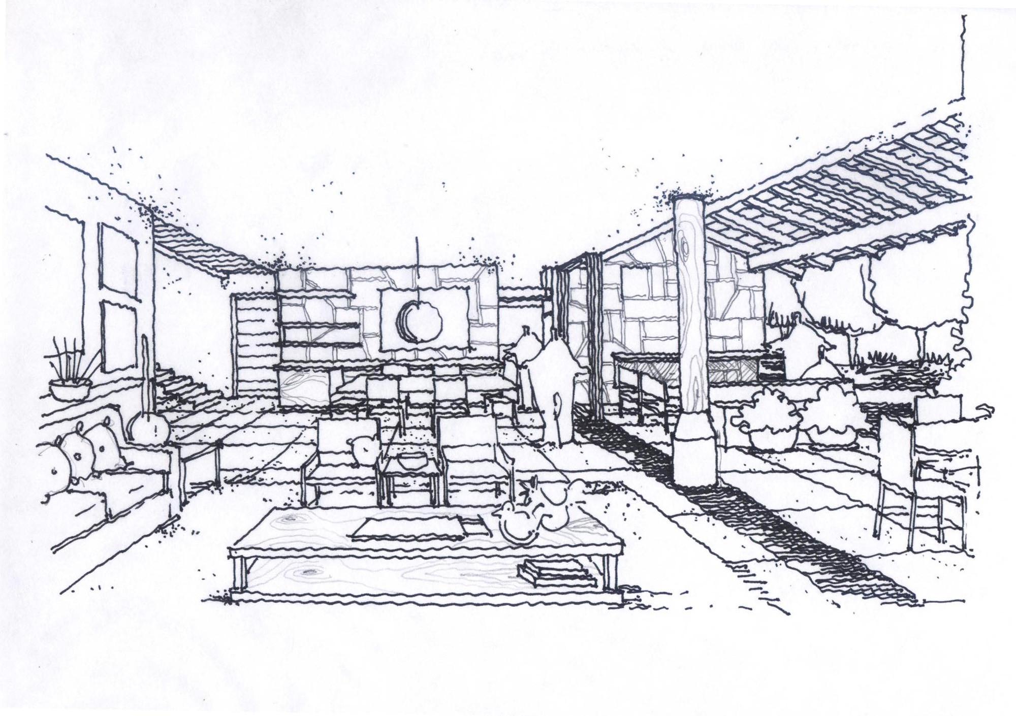 Galeria de casa san juan c3 arquitectos 23 for Croquis de casas
