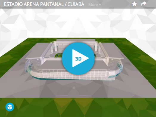 The Stadiums of the World Cup as 3D Sketchfab Models