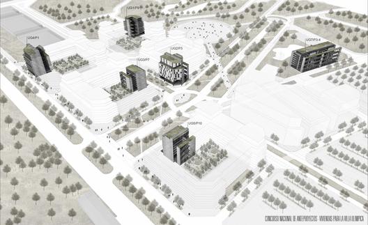 Primer Lugar: Clave K111. Image © Sociedad Central de Arquitectos (SCA)