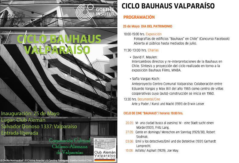 Día del patrimonio: ciclo Bauhaus en Valparaíso