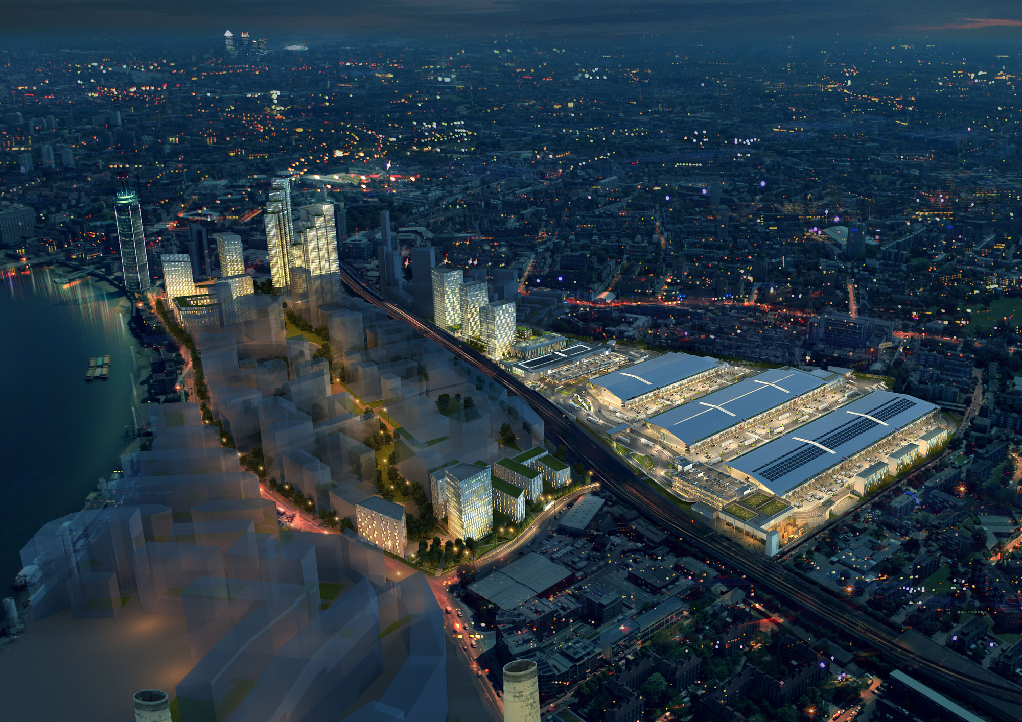 BDP & SOM Reveal Plans For New Covent Garden Market, © BDP