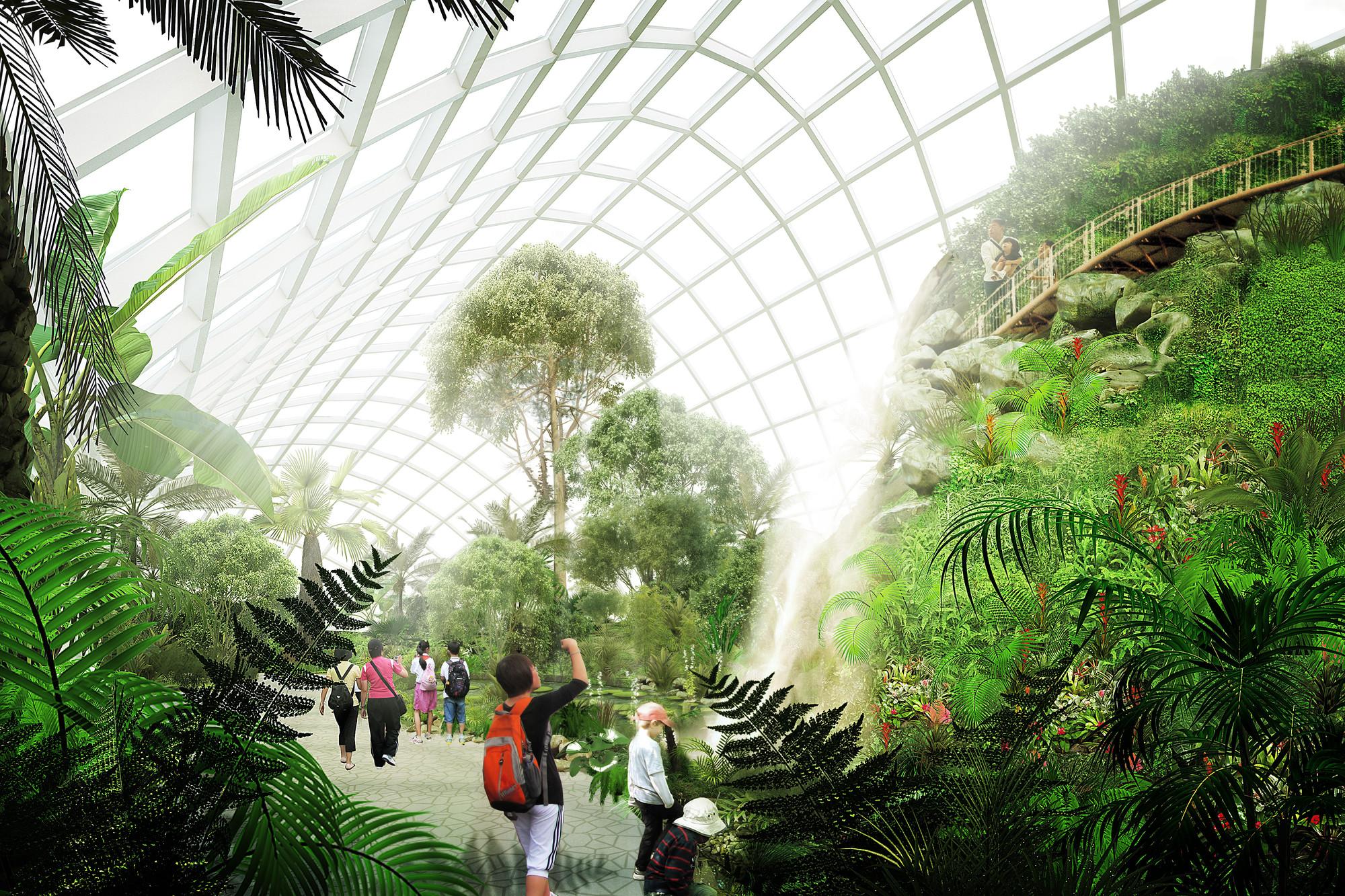 Escritório John McAslan + Partners é selecionado para projetar um jardim botânico na China, Cortesia de John McAslan + Partners