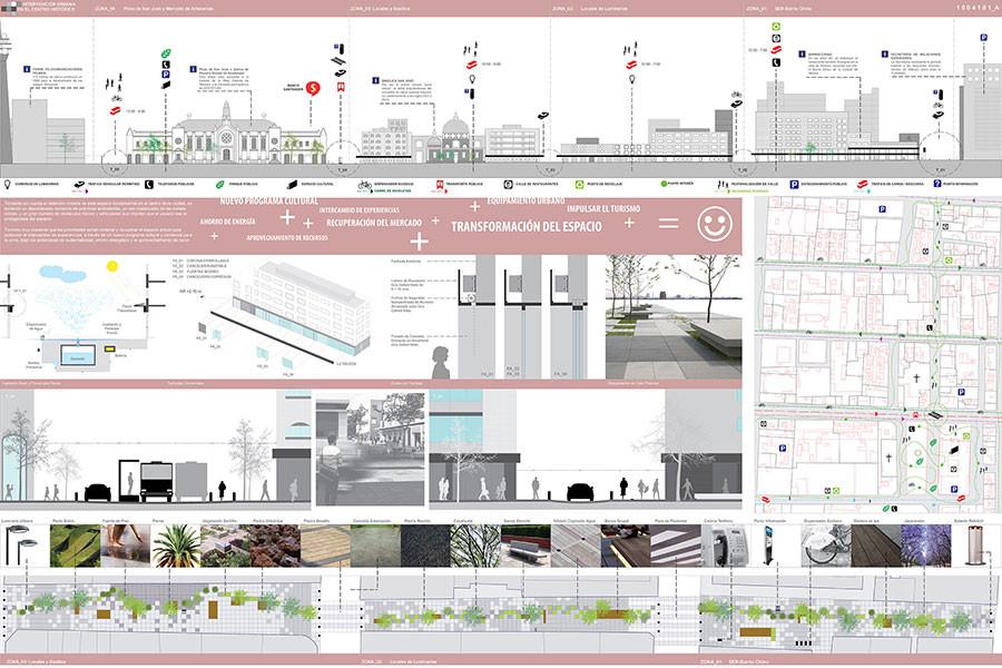 Galer a de primer lugar concurso de arquitectura for Laminas arquitectura