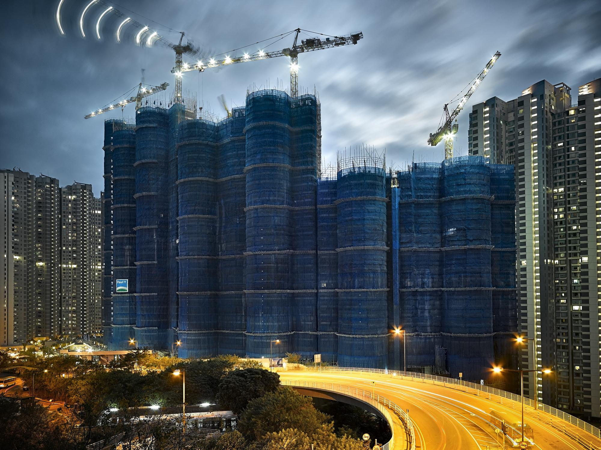 "Arte y Arquitectura: Metamorfósis de Hong Kong documentado en la Serie ""Cocoon"", © Peter Steinhauer"