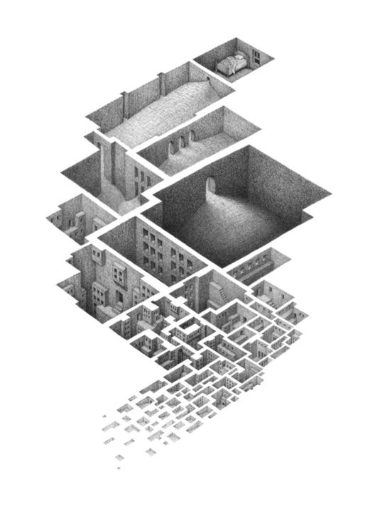 Arte e Arquitetura: espaços arquitetônicos abaixo da realidade por Mathew Borret, © mathew Borrett
