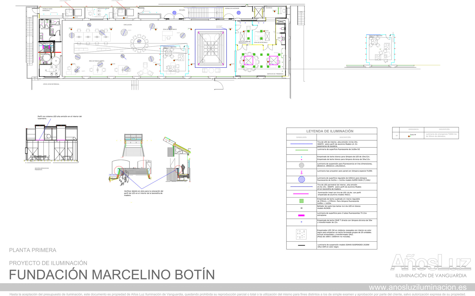 Proyecto de iluminaci n oficinas de fundaci n bot n por - Iluminacion para plantas ...