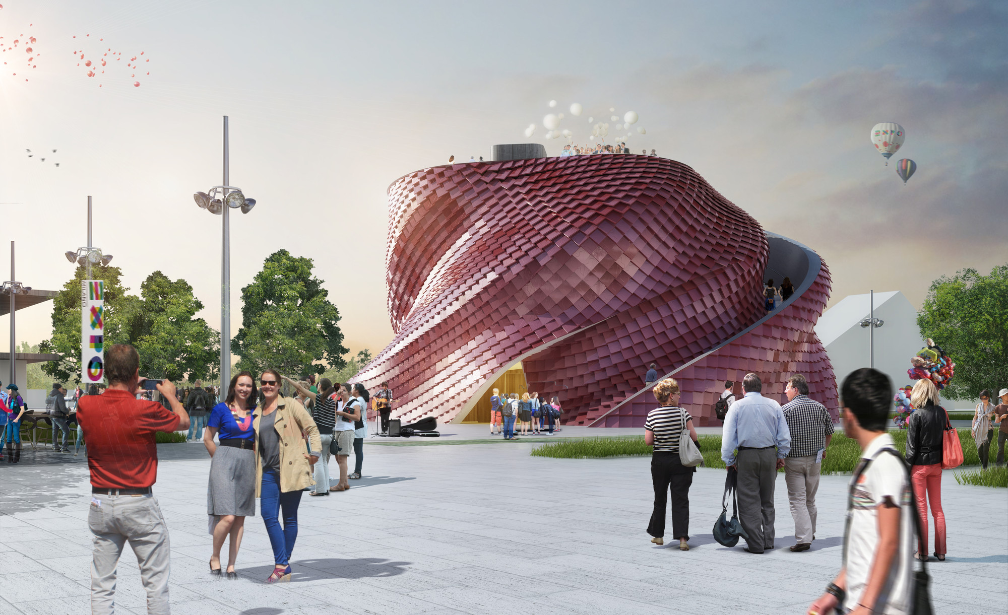 "Milan Expo 2015: Libeskind Reimagines the Chinese ""Shitang"" for Vanke, © Vingtsix; Courtesy of Studio Daniel Libeskind"