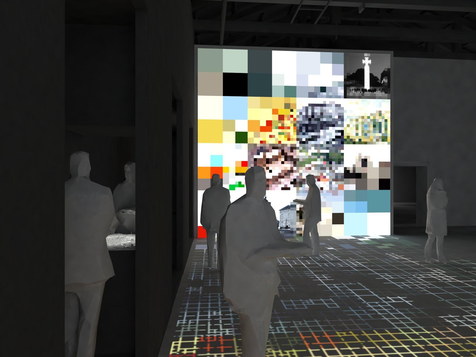 """Bienal de Veneza 2014: Estônia apresenta a exposição """"Interspace"""", Vista interna do pavilhão. Imagem © Siim Tuksam"""