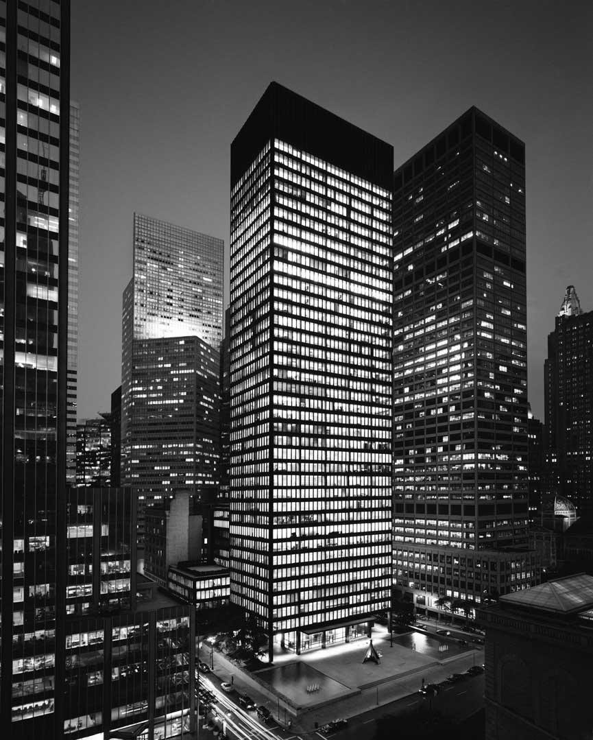 ad classics seagram building mies van der rohe archdaily. Black Bedroom Furniture Sets. Home Design Ideas