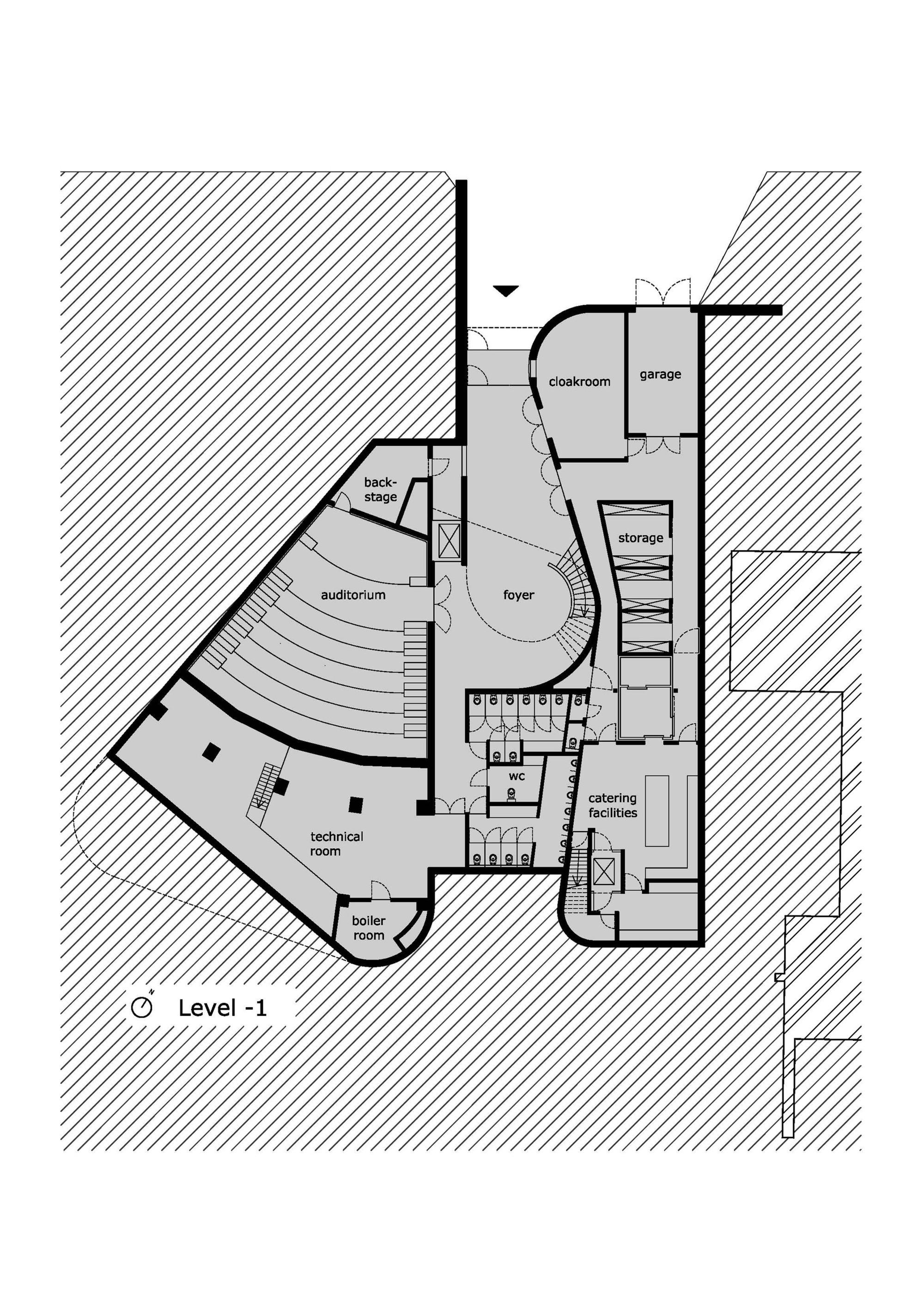 L Shaped Floor Plan Gallery Of Auditorium Az Groeninge Kortrijk Dehullu
