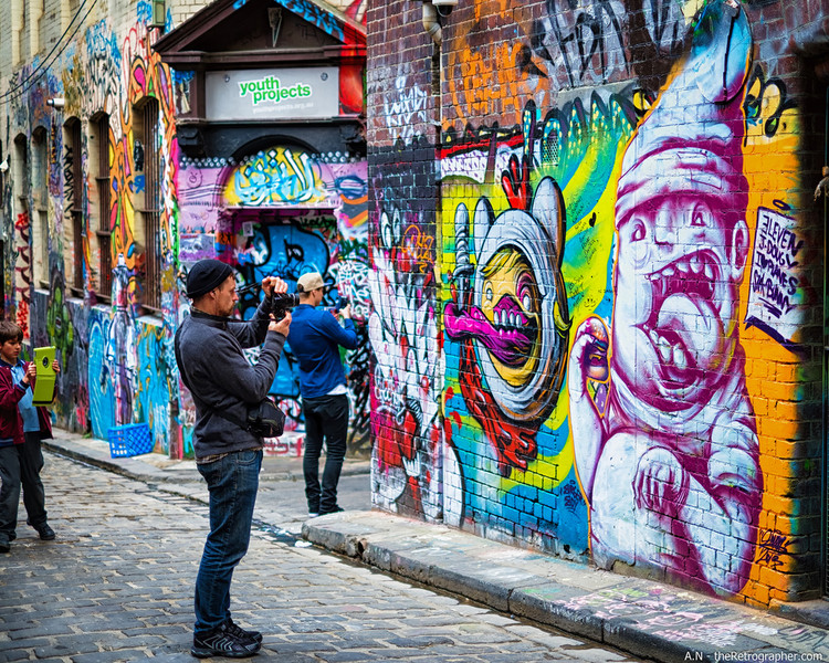 Hosier e Rutledge Lane: Galerias de graffiti espontâneas em Melbourne, © theRetrographer, Flickr. Used under <a href='https://creativecommons.org/licenses/by-sa/2.0/'>Creative Commons</a>