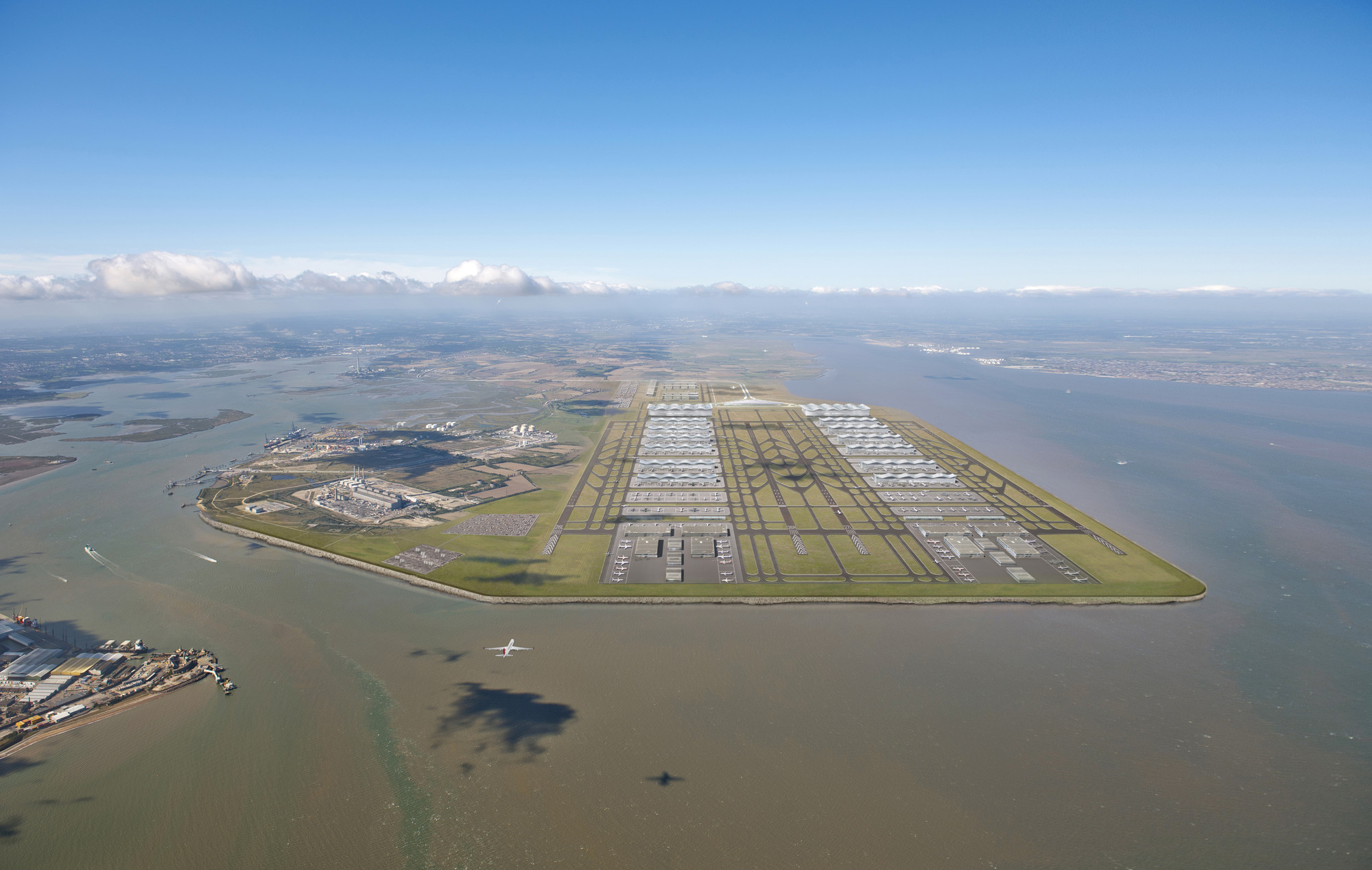 Norman Foster Reasserts Belief in Thames Estuary Airport, © Foster + Partners