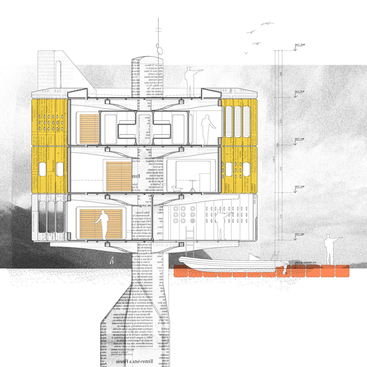 Arquitectura Flotante: Sistema de prefabricación en ferrocemento para zonas extremas