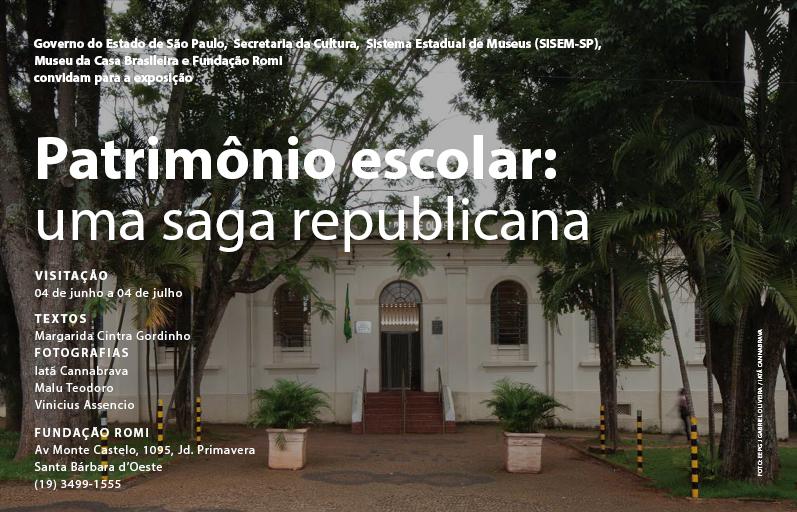 """Exposição """"Patrimônio escolar: uma saga republicana"""", na Fundação Romi, Courtesy of Museu da Casa Brasileira"""
