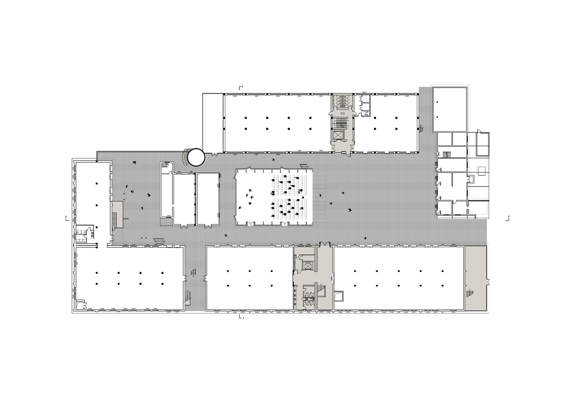 Refurbishment of the offset printing factory origin for Print architectural plans