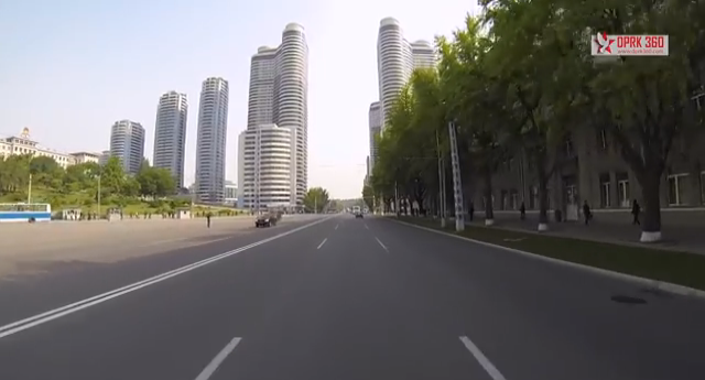 Video: A Rare Look Inside North Korea's Largest City, A screenshot from the GoPro City Tour of Pyongyang. Image Courtesy of YouTube