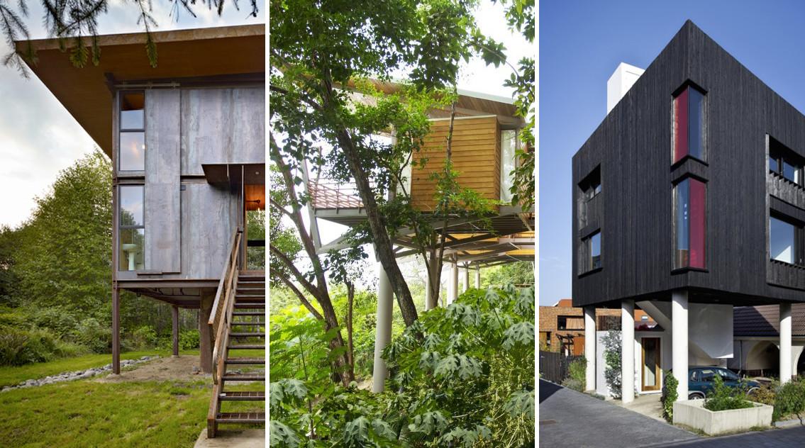 Casas sobre pilotes plataforma arquitectura for Casas ideas y proyectos