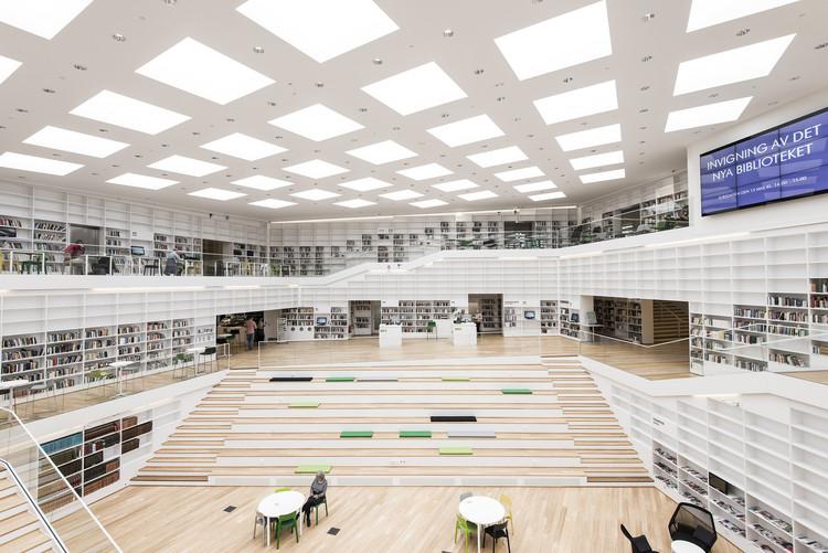 Biblioteca y mediateca Dalarna / ADEPT, © Wilhelm Rejnus & Linus Flodin