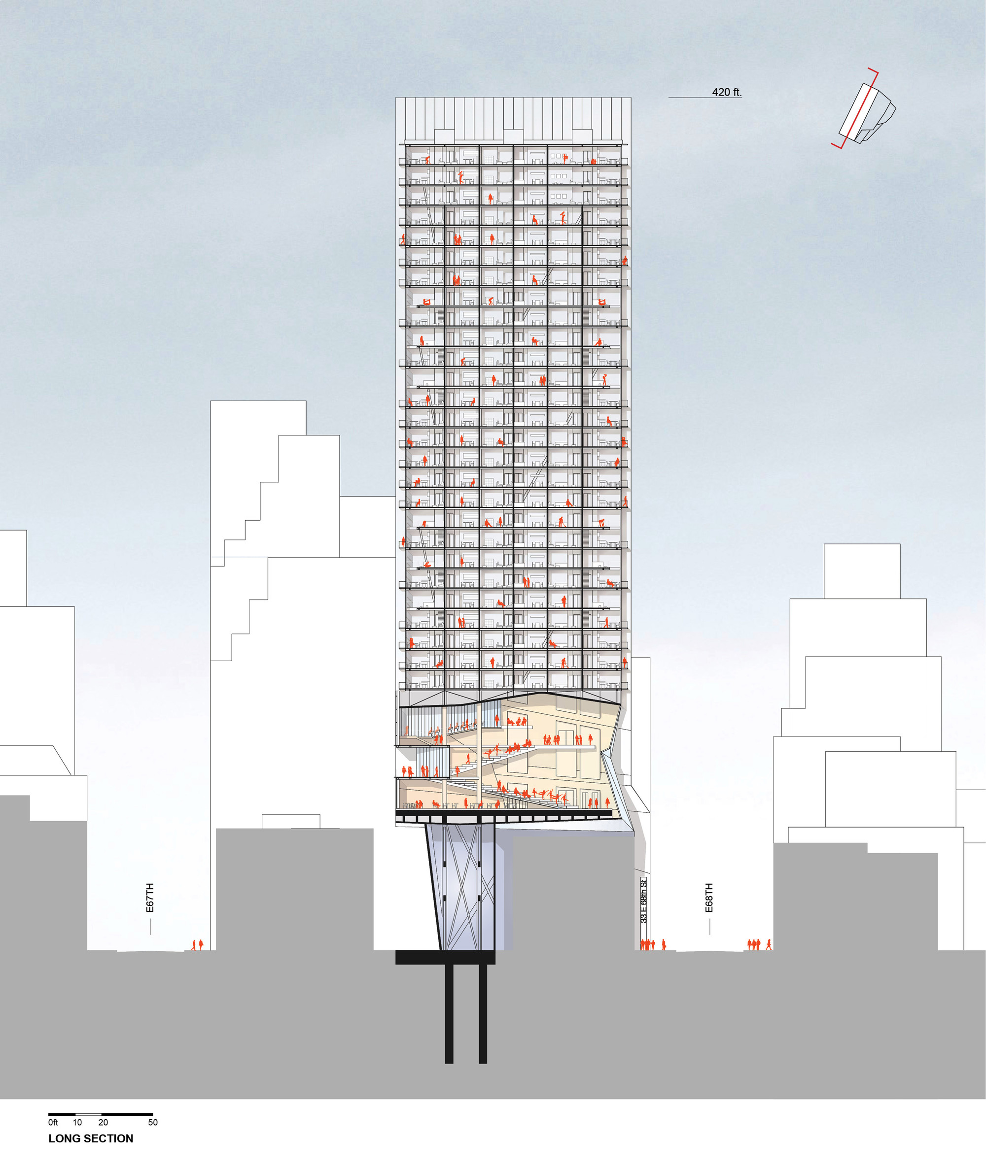 Gallery Of Proposal For New York Skyscraper Cantilevers