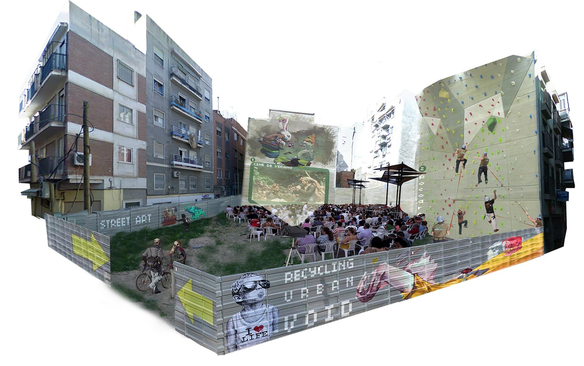 Proposta para recuperar vazios urbanos e estimular a reativação econômica em cidades espanholas, Murcia [Depois]. Imagem Cortesia de Aula de Arquitetura Social AAS UCAM