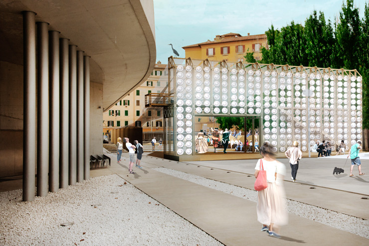 Orizzontale's Recycled Keg Wall Wins YAP MAXXI, © Orizzontale