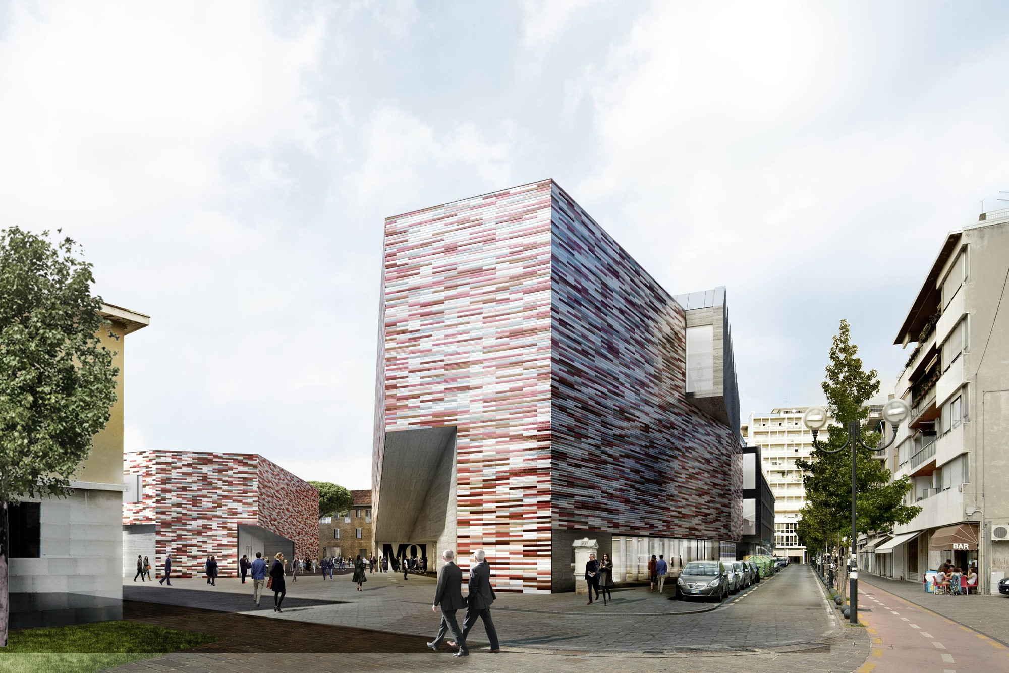 "Venice Biennale 2014: ""M9"" to Discuss the Links Between Cultural Institutions and Urban Regeneration , Museum facing south. Image © Sauerbruch Hutton"