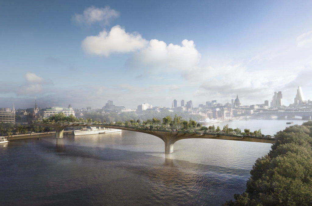 Heatherwick's Garden Bridge Proposal. Image © Arup, Courtesy London Festival of Architecture 2014