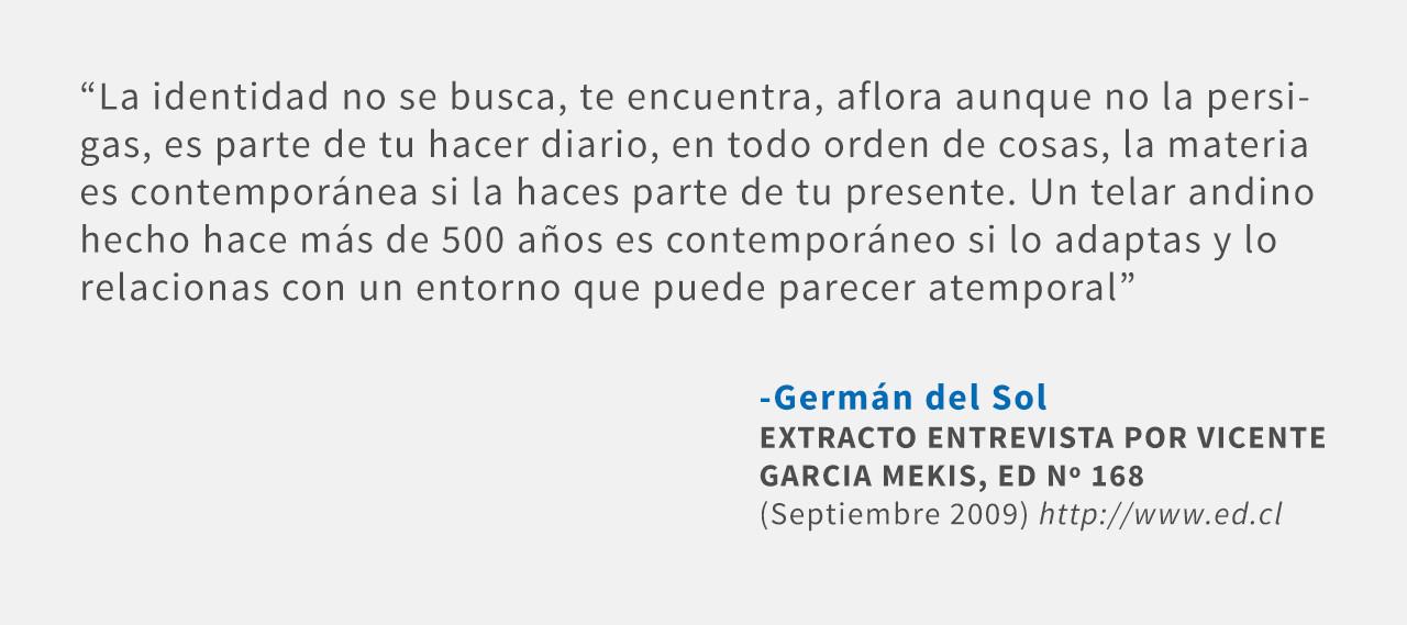 Frases: Germán del Sol