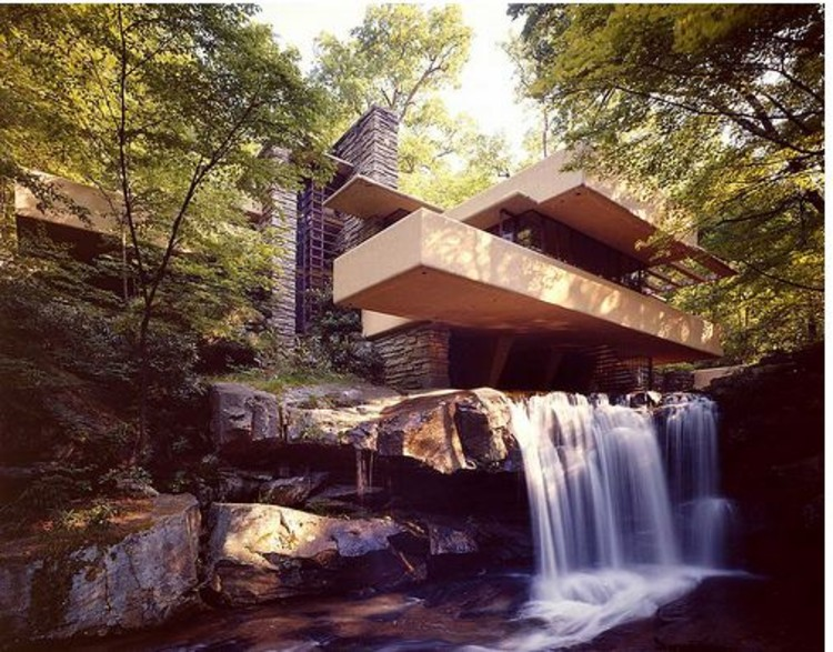 Spotlight: Frank Lloyd Wright, Fallingwater House. Image © Western Pennsylvania Conservancy