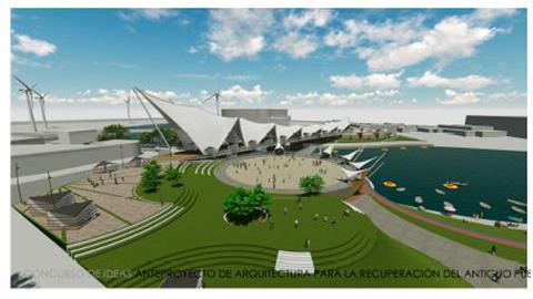 """Resultados Concurso Ideas de Arquitectura Puente San Pedro / Osorno, Chile, Primer Lugar: """"Soñemos a Osorno como ciudad destino"""". Image Courtesy of SECPLAN Ilustre Municipalidad de Osorno"""